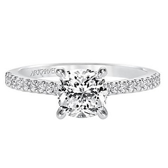 ArtCarved 14K White Gold Willa Diamond Engagement Ring Setting
