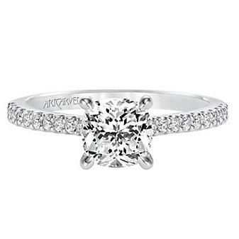 ArtCarved 14K White Gold Willa Diamond Engagement Ring Setting