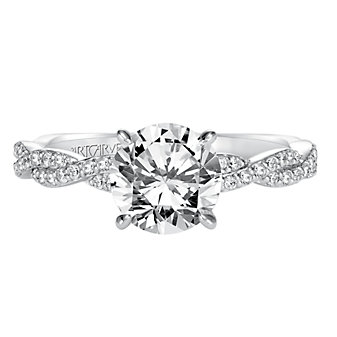 ArtCarved 14K White Gold Madeline Diamond Engagement Ring Setting