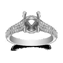 Precision_Set_18K_White_Gold_Three_Row_Diamond_Ring_Setting,_0.28cttw
