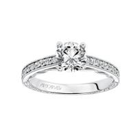 ArtCarved_14K_White_Gold_&_Round_Diamond_Ferm_Ring_Mounting