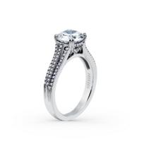 Kirk_Kara_18K_White_Gold_Stella_3_Row_Diamond_Ring_Mounting,_0.26cttw