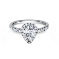 Kirk_Kara_18K_White_Gold_Ring_Mounting_with_Diamond_Pear_Halo_and_Shank