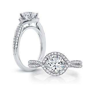 Peter Storm Twisted Halo Diamond Ring Mounting