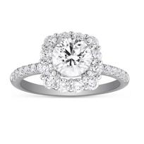 14K_White_Gold_Diamond_Cushion_Shaped_Halo_Ring_Mounting,_0.77cttw