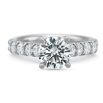 Precision Set 18K White Gold Comfort Fit Diamond Ring Mounting