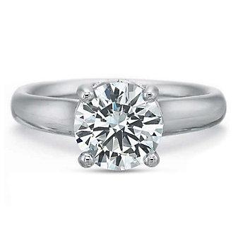 Precision Set 18K White Gold Diamond Gallery Ring Mounting