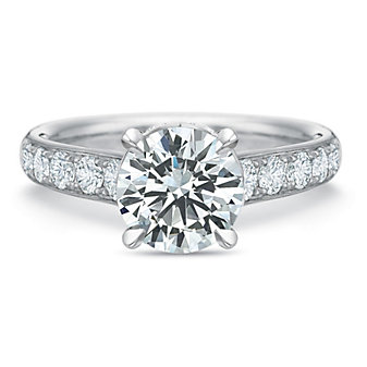 Precison Set 18K White Gold Flush Fit Diamond Ring Mounting