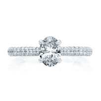 A._Jaffe_18K_White_Gold_Diamond_Pave_Shank_Ring_Mounting_with_Quilted_Interior