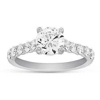 Precision Set 18K White Gold Diamond Ring Mounting