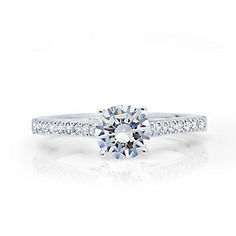 peter storm 18k white gold diamond ring mounting with pave set diamond sides