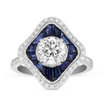 Peter_Storm_18K_White_Gold_Round_Diamond_and_Caliber_Cut_Sapphire_Round_Ring_Mounting