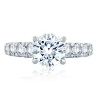 A._Jaffe_14K_White_Gold_Diamond_Ring_Mounting,_1.06aptw