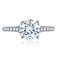 A._Jaffe_14K_White_Gold_Diamond_Shank_Ring_Mounting,_0.40aptw