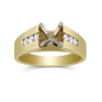 14K_Yellow_Gold_Channel_Set_Round_Diamond_Cathedral_Style_Ring_Mounting