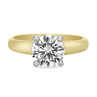 Precision Set 18K Yellow Gold Diamond Gallery Ring Mounting, 0.07cttw