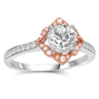 18K_White_Gold_With_Rose_Gold_Frame_Diamond_Engagement_Ring_Mounting