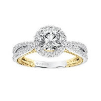 ArtCarved_14K_White_&_Yellow_Gold_Round_Diamond_Rope_Marin_Ring_Mounting