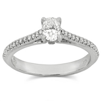 14K_White_Gold_Oval_Diamond_Ring_With_Round_Side_Diamonds,_0.50cttw