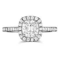 Henri_Daussi_18K_White_Gold_Cushion_Diamond_and_Round_Diamond_Halo_Ring,_0.71cttw