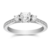 14K_White_Gold_Milgrain_Round_Diamond_Ring,_0.98cttw