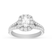 Henri_Daussi_18K_White_Gold_Cushion_Diamond_Halo_Split_Shank_Engagement_Ring