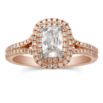 Henri_Daussi_14K_Rose_Gold_Cushion_Diamond_Ring_With_Double_Halo