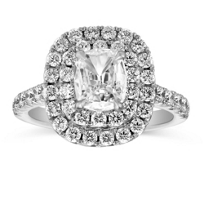 Henri_Daussi_18K_White_Gold_Cushion_Diamond_Ring_With_Double_Halo,_2.04cttw