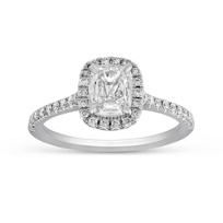 Henri_Daussi_18K_White_Gold_Cushion_Diamond_Halo_Engagement_Ring
