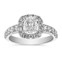 Henri_Daussi_Platinum_Cushion_Diamond_Halo_Ring,_2.35cttw