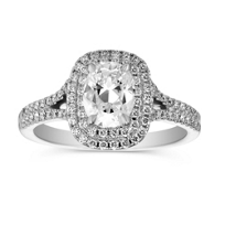 Henri_Daussi_18K_White_Gold_Cushion_and_Double_Halo_Ring,_1.39cttw