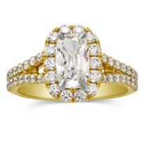 Henri_Daussi_18K_Yellow_Gold_Cushion_Diamond_Ring_With_Halo,_1.91cttw