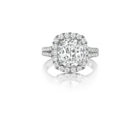 Henri_Daussi_18K_White_Gold_Cushion_Diamond_Halo_Ring,_2.63cttw