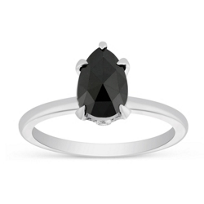18K_White_Gold_Black_Pear_Shaped_Diamond_Ring