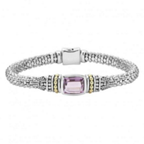 lagos_sterling_silver_&_18k_yellow_gold_caviar_color_amethyst_bracelet