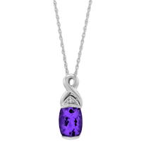 14K_White_Gold_Cushion_Amethyst_&_Diamond_Swirl_Pendant