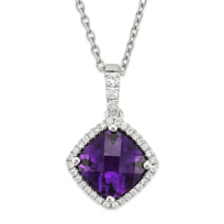 14K_White_Gold_Cushion_Checkerboard_Amethyst_and_Round_Diamond_Pendant