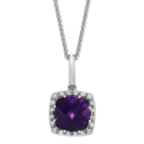 14K_White_Gold_Checkerboard_Cushion_Amethyst_and_Round_Diamond_Pendant