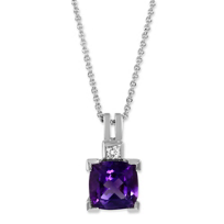 14K_White_Gold_Cushion_Amethyst_and_Round_Diamond_Pendant