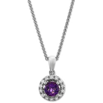 14K_White_Gold_Amethyst_and_Diamond_Halo_Pendant