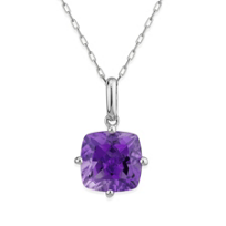 14K_White_Gold_Cushion_Amethyst_Pendant