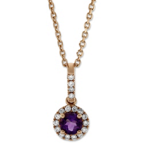14K_Rose_Gold_Amethyst_and_Round_Diamond_Halo_Pendant