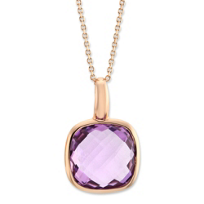 14K_Rose_Gold_Checkerboard_Amethyst_Bezel_Set_Pendant