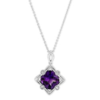 14K_White_Gold_Cushion_Amethyst_and_Round_Diamond_Filigree_Pendant