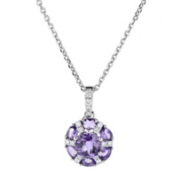 14k_white_gold_checkerboard_round_amethyst_and_diamond_flower_pendant