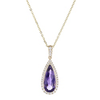 14k_white_gold_pear_shaped_checkerboard_amethyst_diamond_halo_pendant