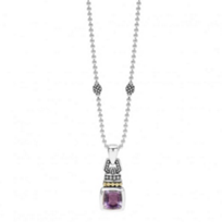 lagos_sterling_silver_&_18k_yellow_gold_caviar_color_amethyst_pendant_necklace,_18""