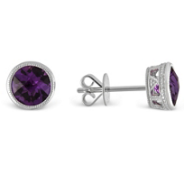 14K_White_Gold_Round_Faceted_Bezel_Set_Amethyst_Earrings,_6mm