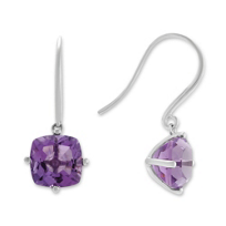 14K_White_Gold_Cushion_Amethyst_Drop_Earrings