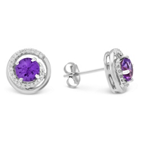 14K_White_Gold_Amethyst_&_Round_Diamond_Swirl_Earrings